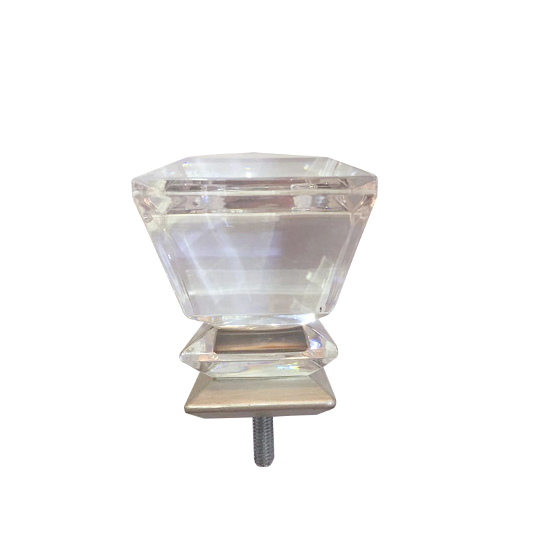 Block platform crystal curtain finial
