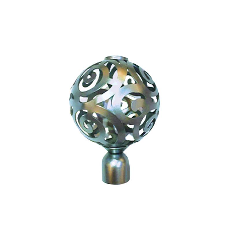 Hollow pattern Fashion curtain finial