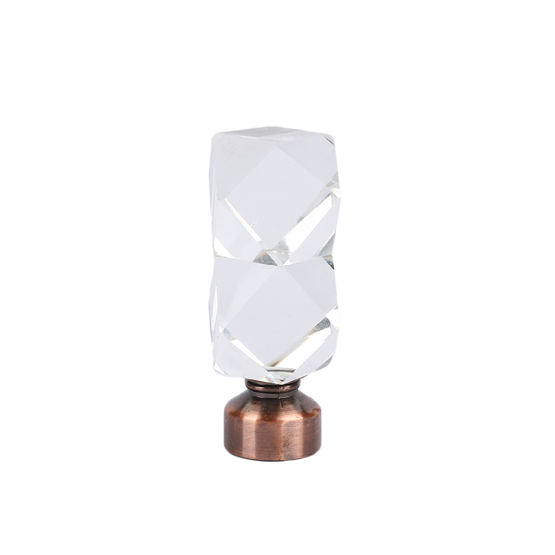Double Prism Fashion Crystal Curtain finial