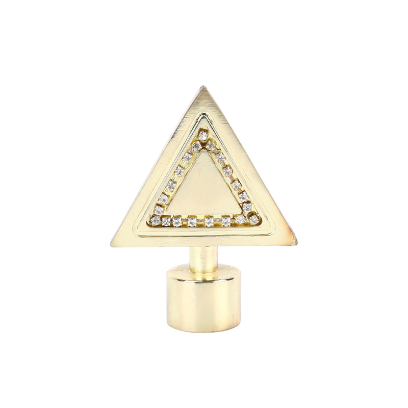 Triangular sheet aluminium alloy with drill curtain finial
